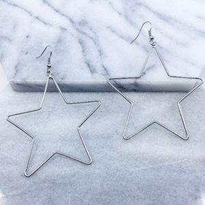 Jewelry - Silver Star Drop Earrings